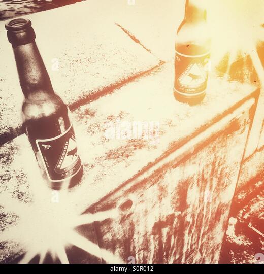 Retro-Frozen Bier Glühen Stockbild