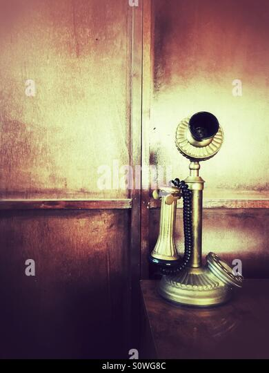 Altmodische Telefon Stockbild