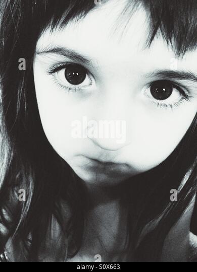 Schwarz / weiß Porträt des Kaukasischen Mädchen. Stockbild