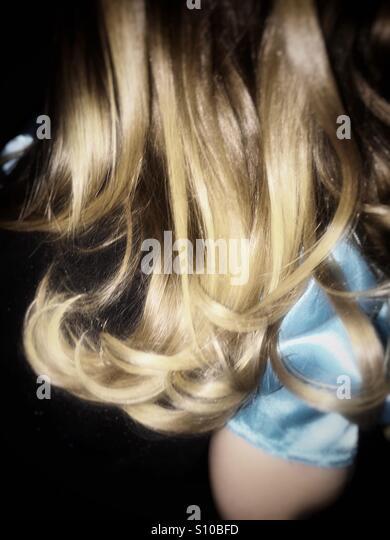 Kleine Mädchen Haare Stockbild