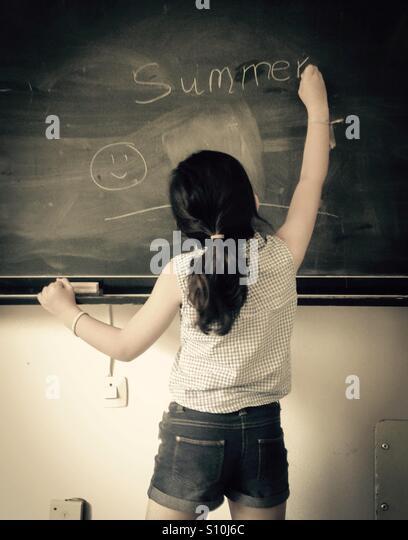 Sommer-Schulferien Stockbild