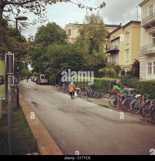 Straßenbild in Salzburg. Stockbild