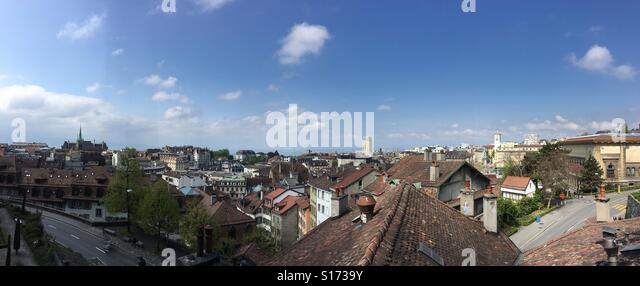 Lausanne-panorama Stockbild