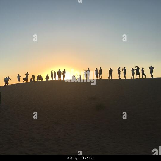 Sonnenuntergang in Dubai - Stock-Bilder