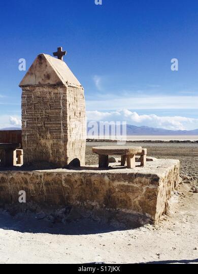 Salz Ausbeutung in Salinas Grandes, Nordwesten von Argentinien Stockbild