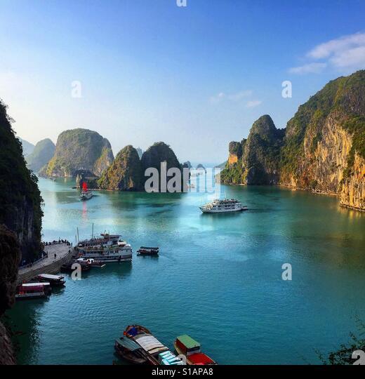 Halong Bucht, Vietnam Stockbild