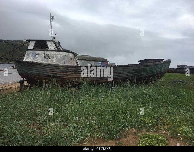Verlassene Schiff Stockbild