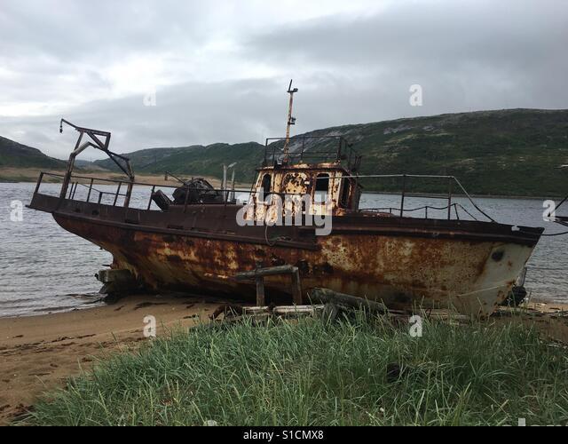 Rostige Schiff Stockbild