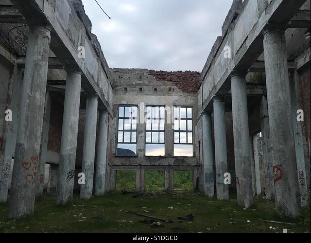 Verlassene Gebäude Stockbild