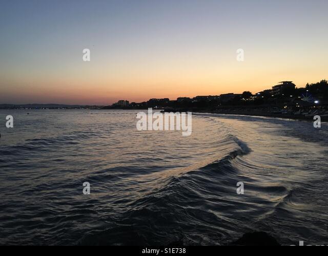 Meer Sonnenuntergang Stockbild