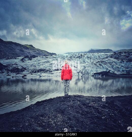 Gletscher in Island Stockbild