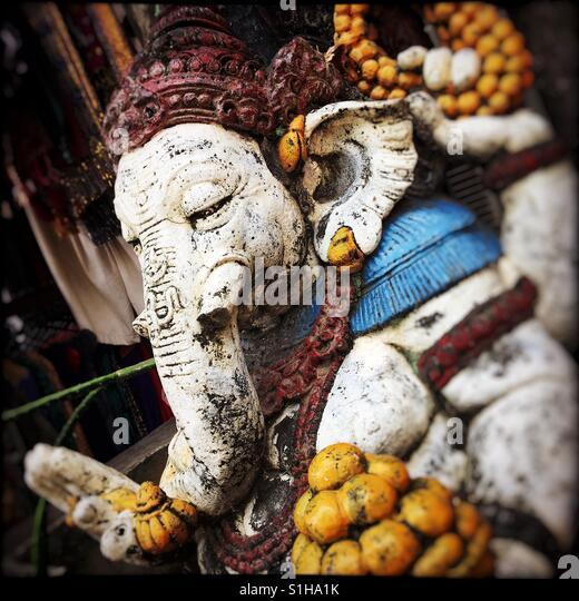 Ganesh in einem Tempel in Bali. Stockbild