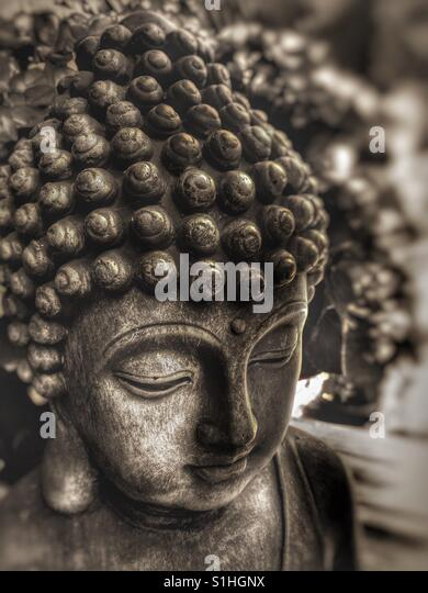 Buddha-Statue hautnah Stockbild