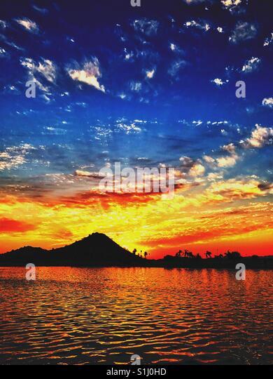 Hill-Sonnenuntergang Stockbild