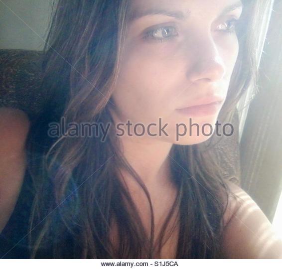 Weibliches Gesicht Stockbild