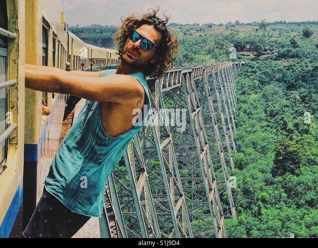 Goteik-Viadukt, Myanmar Stockbild
