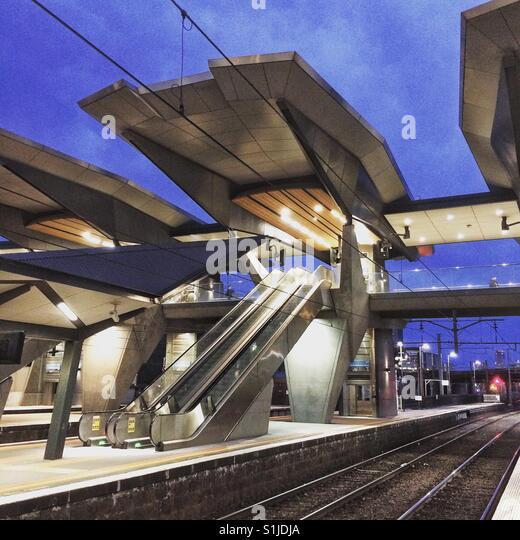 North Melbourne Station Stockbild