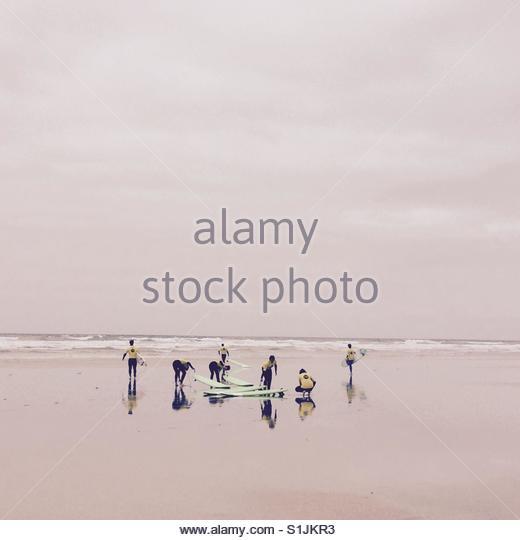 Surfschule Stockbild