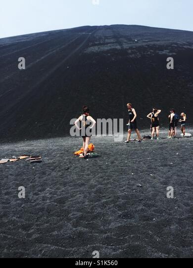 Vulkan Boarding Stockbild