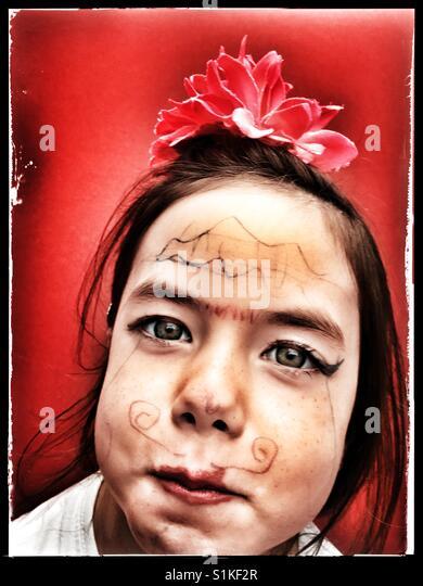 Bemalte Gesicht Stockbild