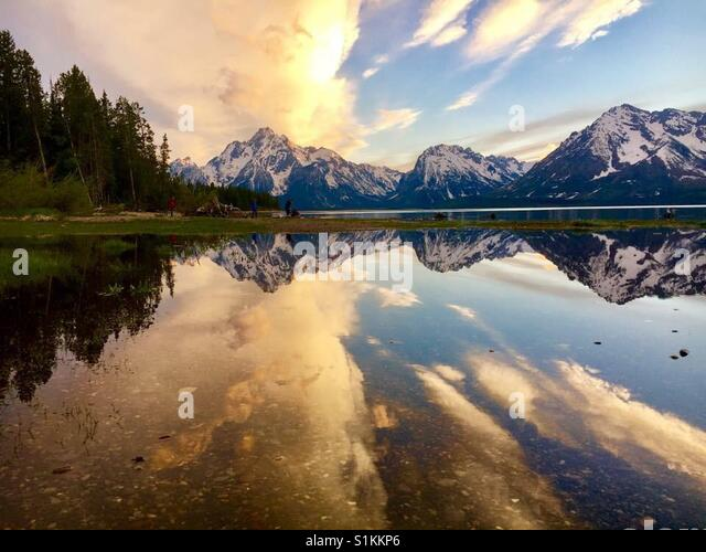 Grand Teton Nationalpark, WY Stockbild