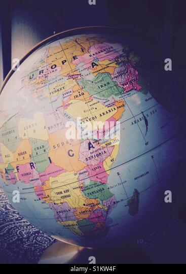 Die ganze Welt. Stockbild