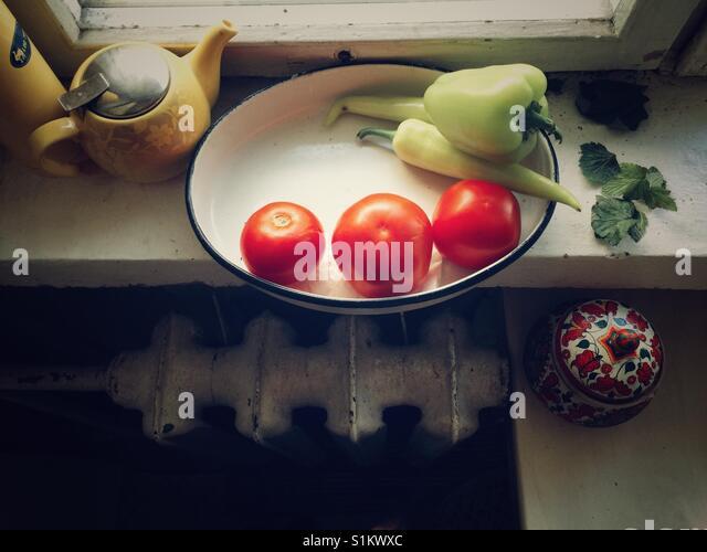 Russische Küche-Stillleben Stockbild