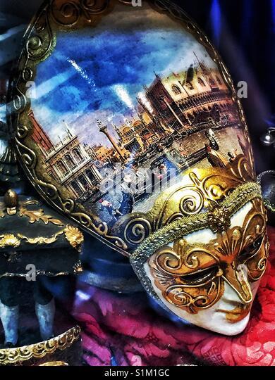 Venezianische Maske. Stockbild