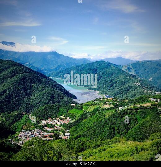 Auf der bergigen Region Taiwan Stockbild
