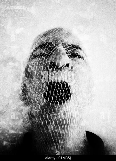 Die Silent Scream Stockbild