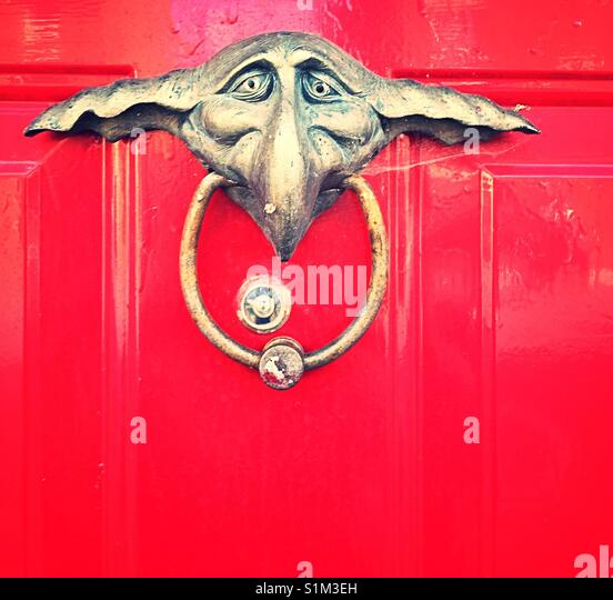 Elf doorknocker Stockbild