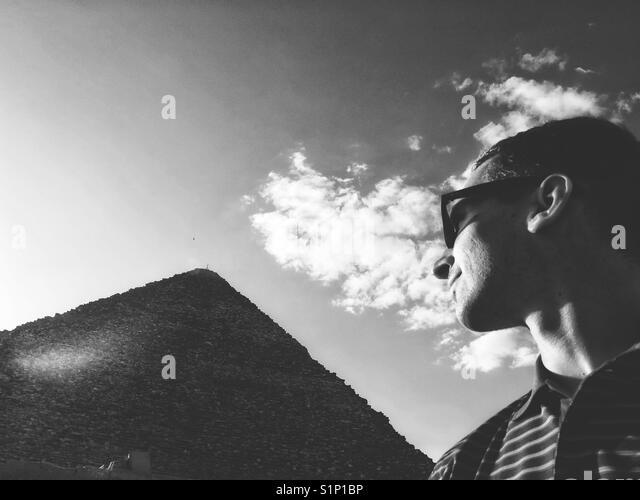 Cheops Pyramide, Kairo, Ägypten Stockbild