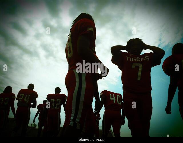 Nach der High School Football Game Stockbild