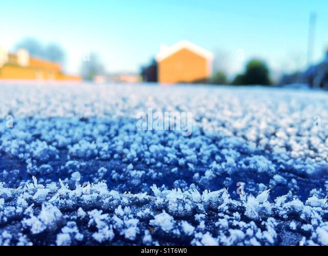 Morgen frost Stockbild