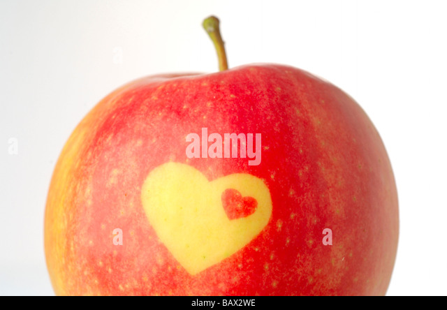 Apple decorativa con forma de calor Imagen De Stock