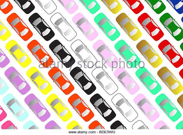 Vista aérea de aparcamiento Imagen De Stock