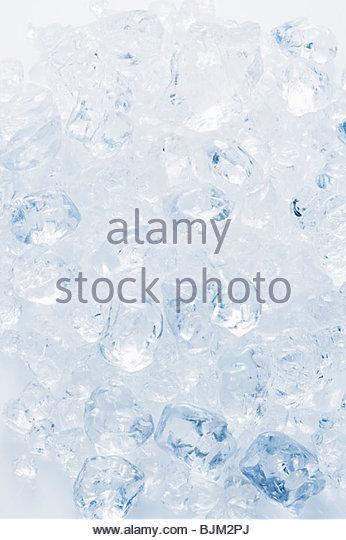 Muchos cubos de hielo Imagen De Stock