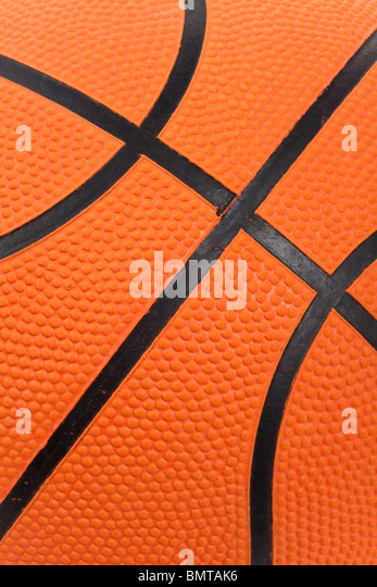 Primer plano de Baloncesto naranja Imagen De Stock