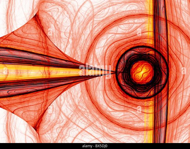Resumen generado por ordenador de energía roja fractal. Bueno como fondo o papel tapiz. Imagen De Stock