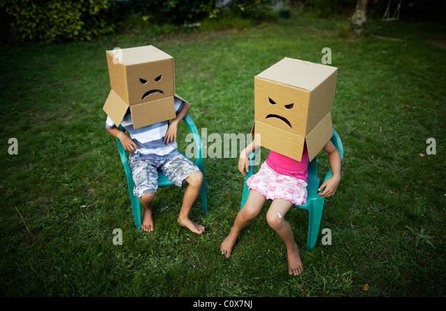 Caras enojados Imagen De Stock