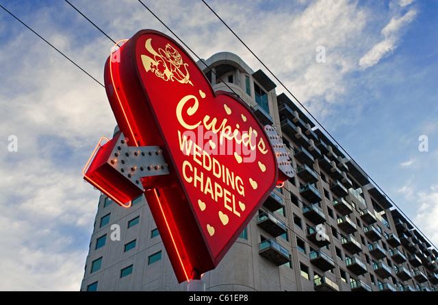 La capilla de bodas Cupidos Las Vegas NV Nevada Imagen De Stock
