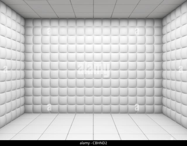 Blanco hospital mental habitación acolchada con copia espacio vacío Imagen De Stock
