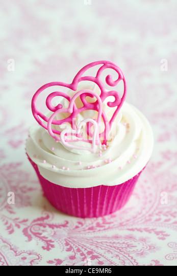 Valentine cupcake Imagen De Stock