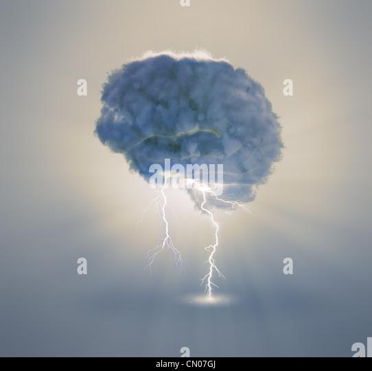 Lluvia de ideas y creatividad ilustración del concepto Imagen De Stock