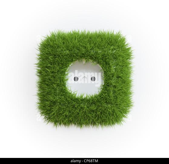 Salida cubierto de hierba - Concepto de energía renovable Imagen De Stock