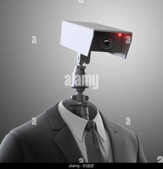 Una cámara de seguridad robótica - vigilancia automatizada Imagen De Stock