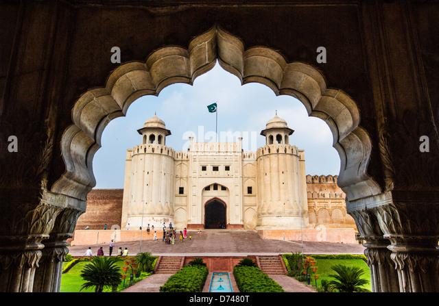 Puerta de Alamgiri, Lahore Fort, Lahore, Pakistán Imagen De Stock