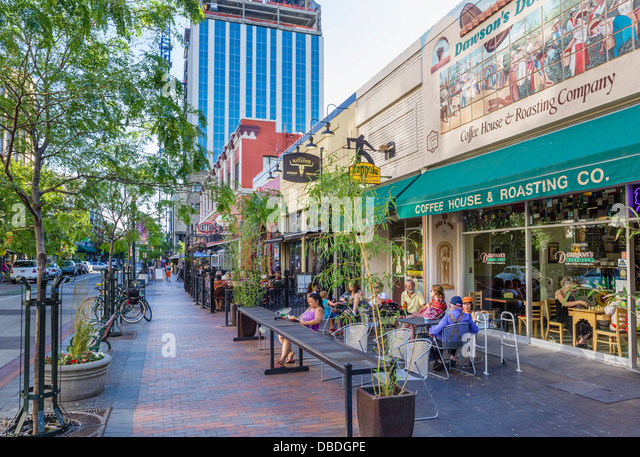 Boise idaho downtown im genes de stock boise idaho for Cafe el jardin centro historico
