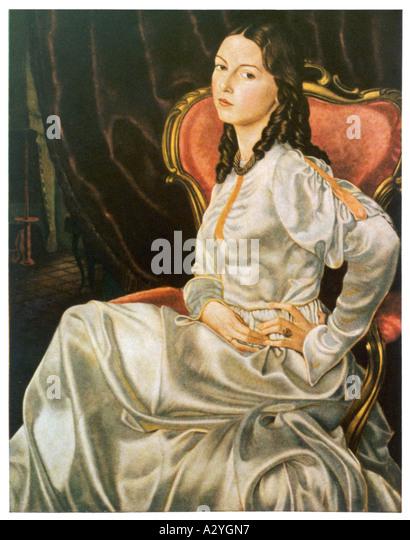 Femme allemande 1860 Photo Stock