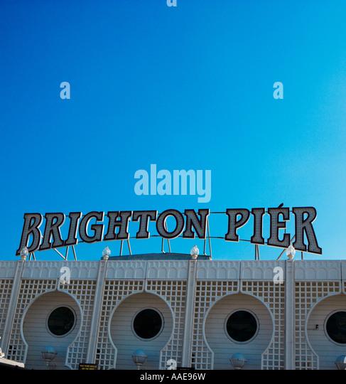 La jetée de Brighton, Brighton, Angleterre Photo Stock
